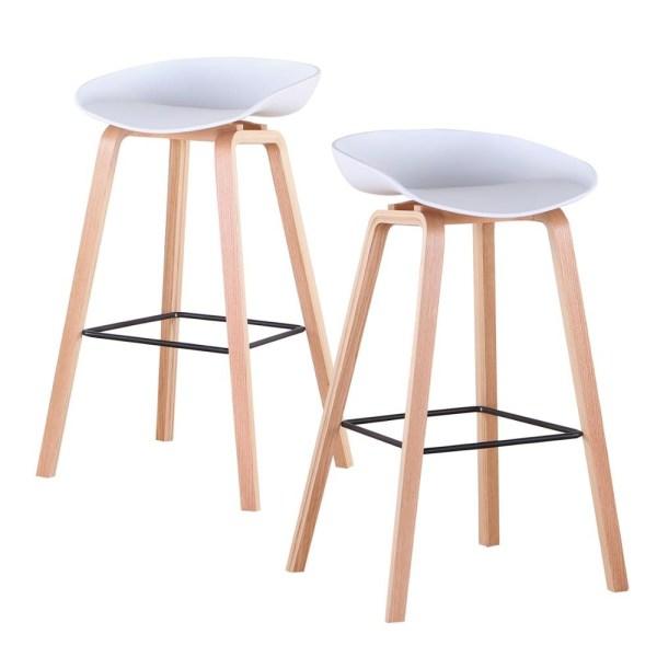 2 chaises de bar blanc