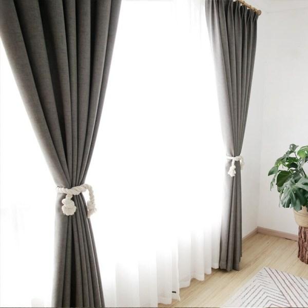 rideau en lin décoration intérieur