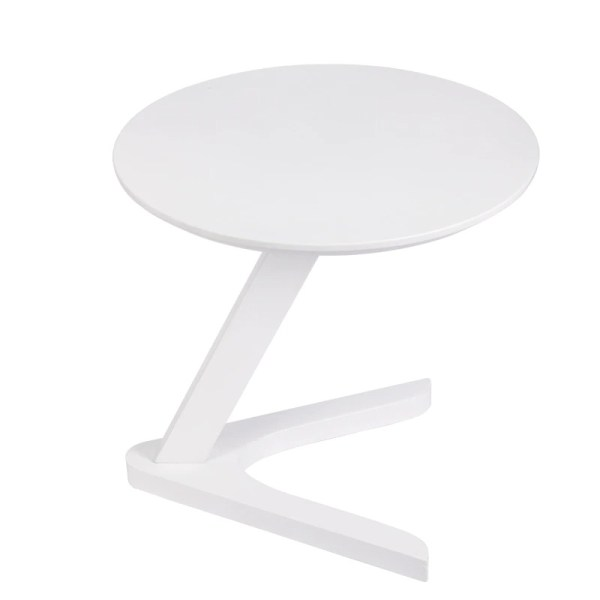 table basse ronde bois blanche