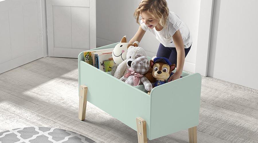 coffre jouet décoration chambre bébé