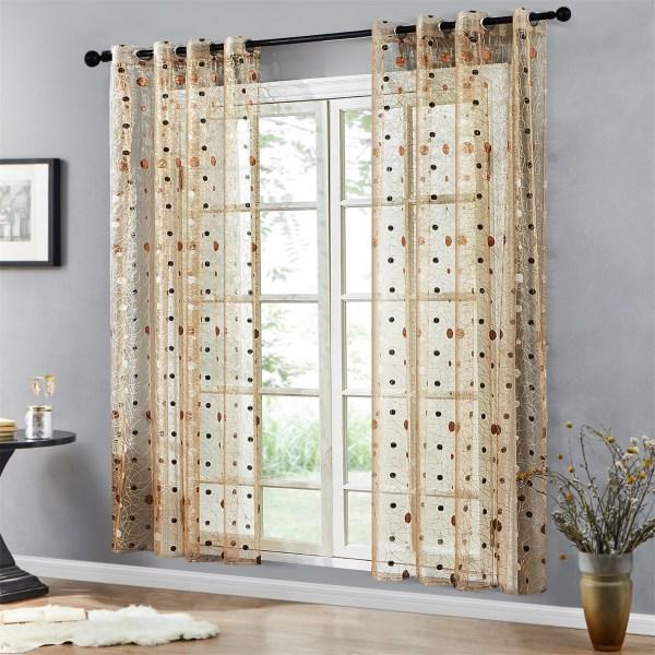 rideau transparent déco fenêtre