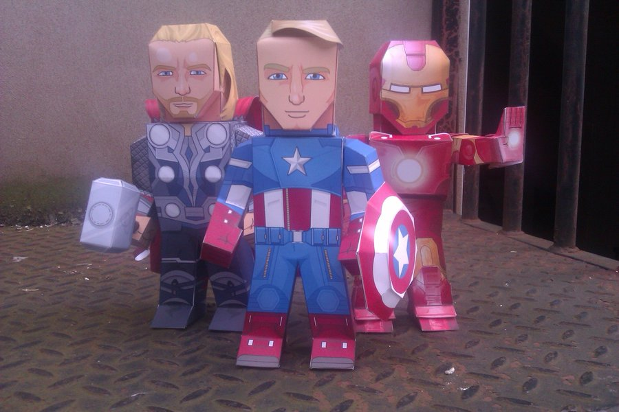 Avengers X Papercraft Adorable Renditions Of Earths