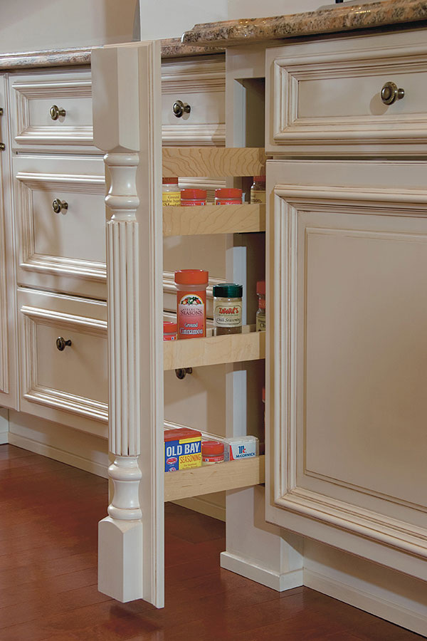 Column Spice Cabinet Pull Out With Split Turning Omega