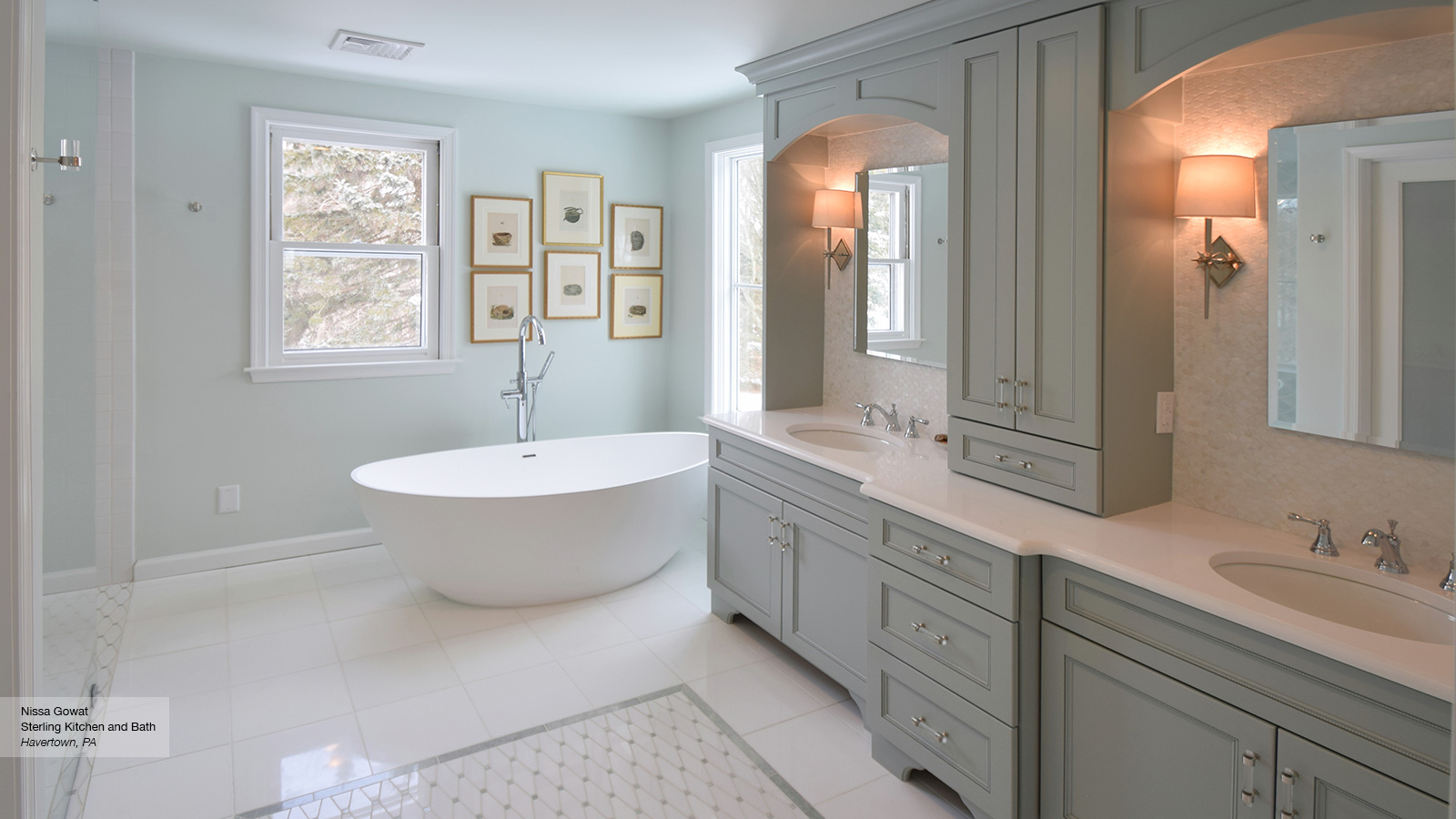 Master Bath Cabinets - Omega Cabinetry on Bathroom Ideas With Maple Cabinets  id=24357