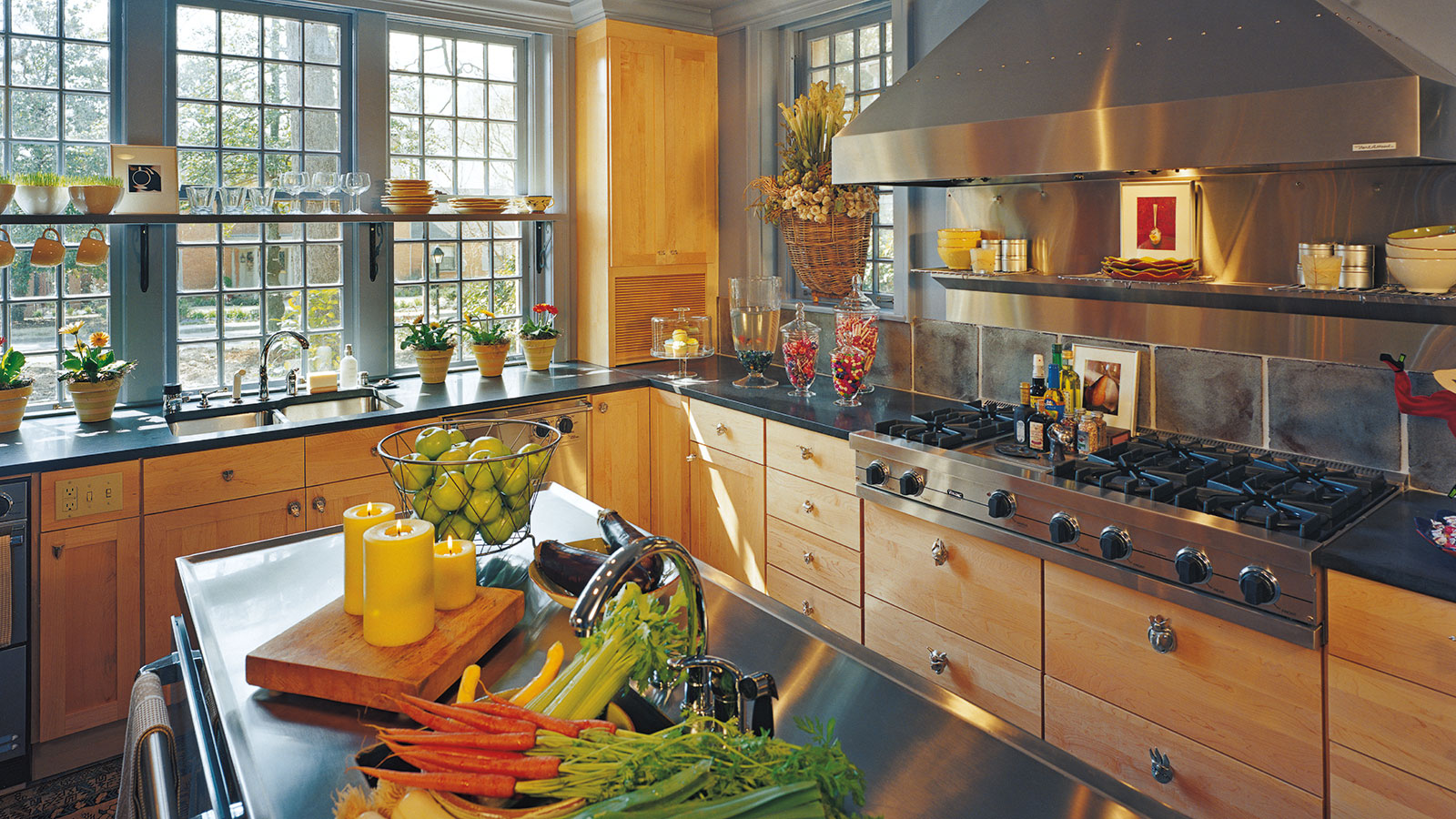 Natural Maple Kitchen Cabinets - Omega Cabinetry on Natural Maple Cabinets  id=95070