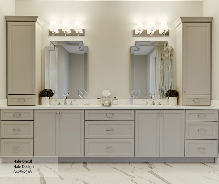 Dove Gray Cabinet Paint on Maple - Omega on Bathroom Ideas With Maple Cabinets  id=71981