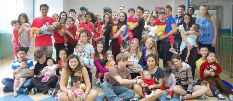 HKIS students visiting orphange