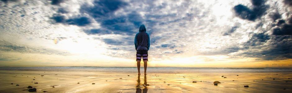 standing at beach
