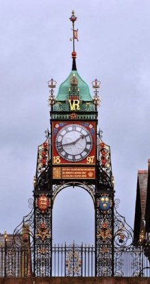 Queen Victoria Clock in Chester, England