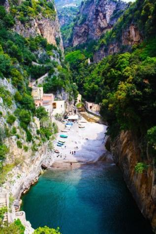Secluded beach Amalfi Coast, Italy