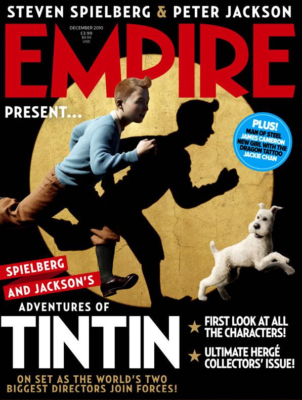 tintim na capa da empire de dezembro