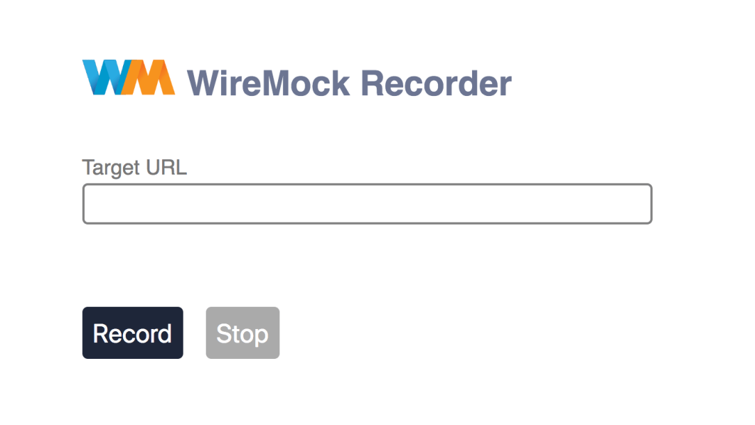WireMock recorder UI