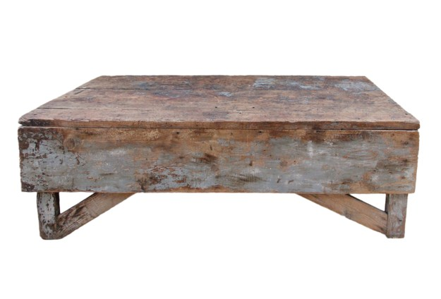 antique plank farmhouse coffee table/bench | omero home