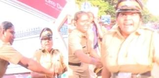 Police attack reporter