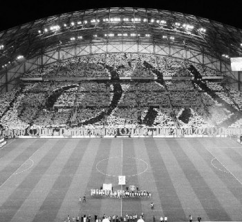 Tifo OM au Stade Vélodrome