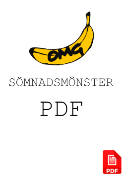Sömnadsmönster PDF Format