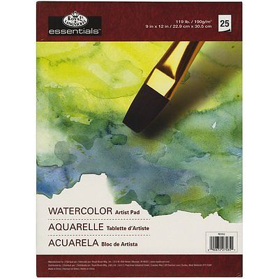 ESSENTIAL WATERCOLOR ARTIST PAD A4 25 SHEETS By ROYAL