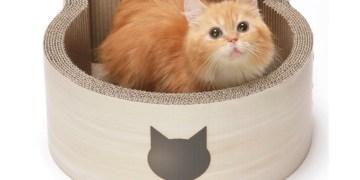 Cat-Shaped Cardboard Scratching Box