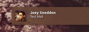 notificação wmail no ubuntu