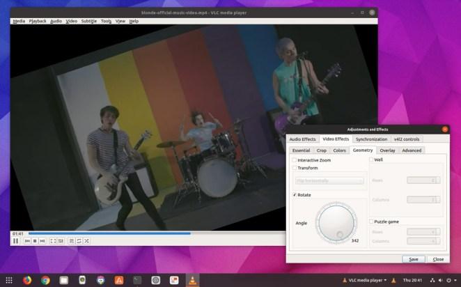 Efeitos de vídeo VLC