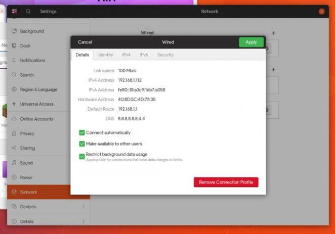 novos recursos do GNOME 3.28