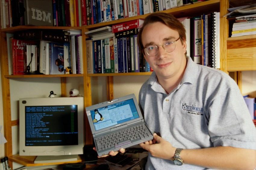 um jovem Linus Torvalds