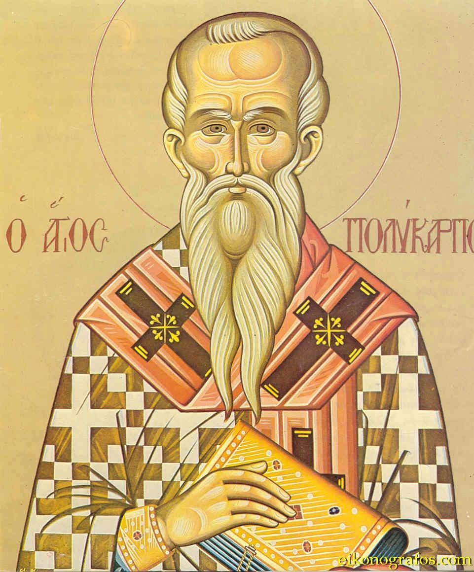Polycarp, disciple of John the apostle and a smart theologian who was burned alive for the sake of the Gospel