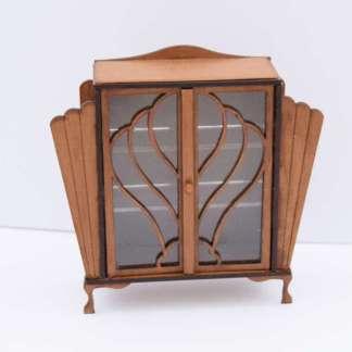 Miniature English Art Deco cabinet