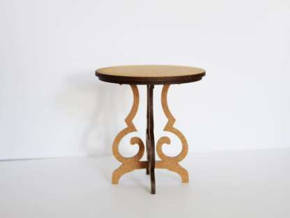 miniature round side table