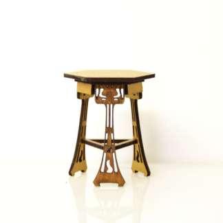 miniature art nouveau table kit