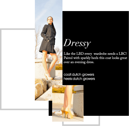 Like the LBD every wardrobe needs a LBC! Paired with sparkly heels this coat looks great over an evening dress.
