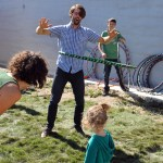 Hula Hooping at Saskatoon Park(ing) Day