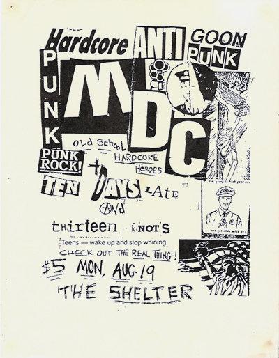 thirteen knots, m.d.c. at the Shelter 1997