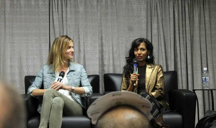 Tricia Helfer and Rekha Sharma (Battlestar Galactica)