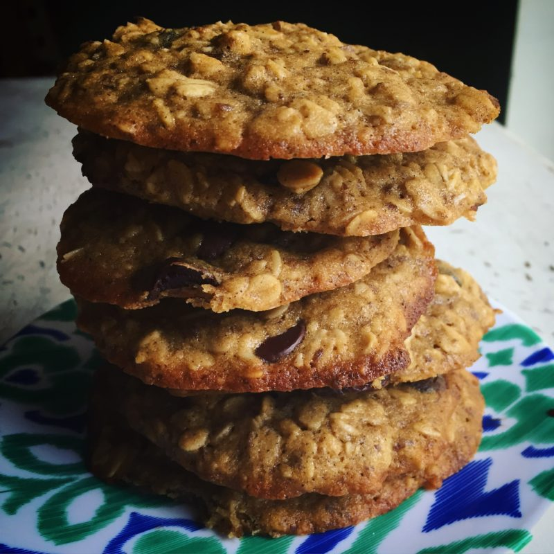 Vegan Oatmeal Chocolate Chip Lactation Cookies