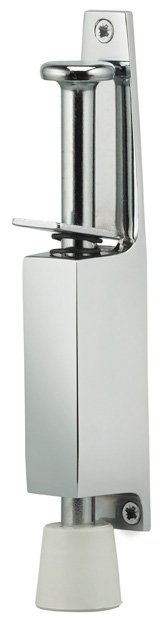 Item No.2001 (Plunger Door Holder - Solid Brass) in finish US26 (Polished Chrome Plated)