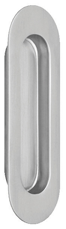 Item No.7505 (Modern Oval Flush Pull - Solid Stainless Steel)