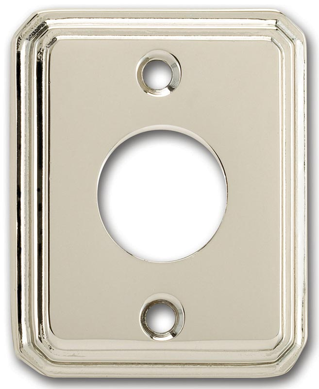 Item No.836/00 (Traditional Rectangular Surface Mounted Rose - Solid Brass)