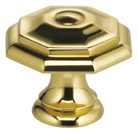 Item No.9145 (Classic Cabinet Knob - Solid Brass) in finish US3 (Polished Brass, Lacquered)
