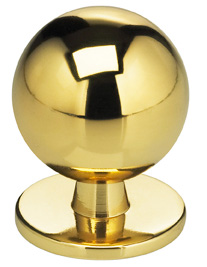 Item No.9165 (Modern Cabinet Knob - Solid Brass) in finish Finish: US3 (Polished Brass, Lacquered)