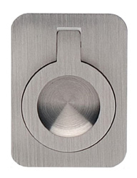 Item No.9588/50 (Rectangular Drop Ring - Solid Brass) in finish US15 (Satin Nickel Plated, Lacquered)