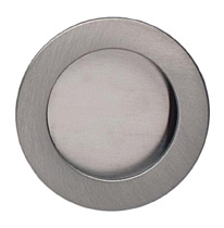 Item No.9595/50 (Modern Cup Pull - Solid Brass) in finish US15 (Satin Nickel Plated, Lacquered) (Example)