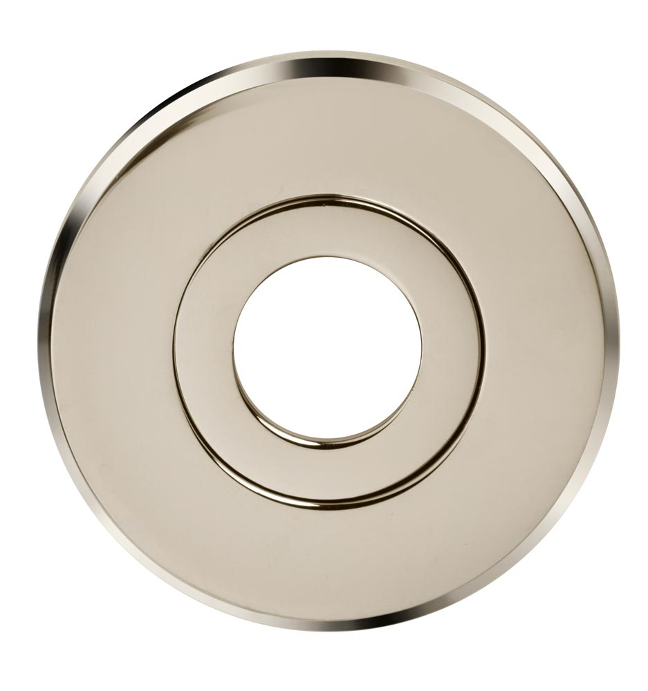 "Item No.M54/54 (2-1/4"" dia. Thru-Bolted Modern Rose - Solid Brass) in finish US26 (Polished Chrome Plated)"