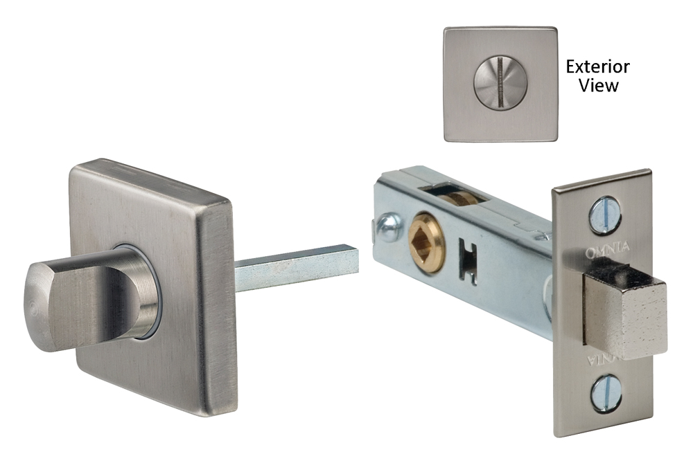 Item No.6001S (Modern Privacy Bolt Set - Stainless Steel)