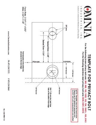 Installation Templates Omnia Industries