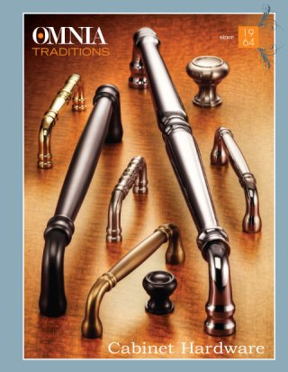 OMNIA Traditions Cabinet Hardware