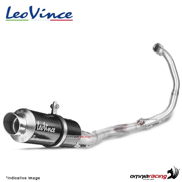 leovince full exhaust system gp corsa carbon racing for kawasaki z125 pro 2017 2019