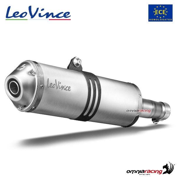 leovince exhaust slipon x3 aluminum homologated for suzuki ltz400 2003 2008