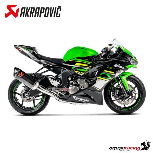 akrapovic full exhaust system racing carbon fibre for kawasaki zx6r ninja 2019
