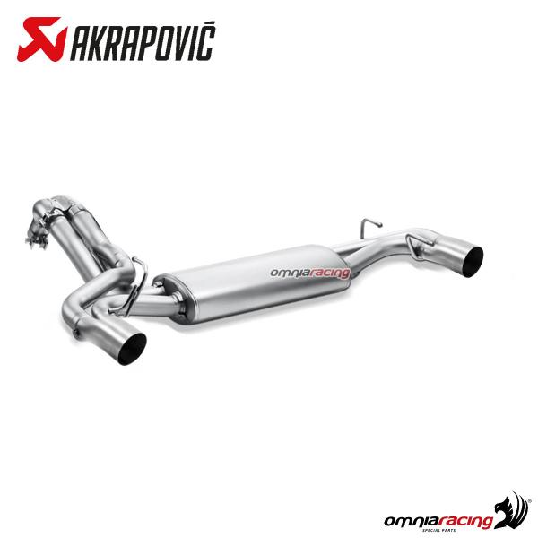 akrapovic full exhaust system stainless steel ec approved for fiat abarth 500 500c 2008 2018